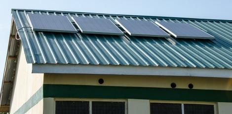 Solar panels on clinic