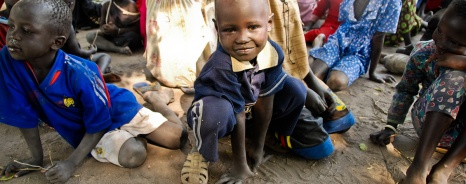 This happy boy was one of the children who came for the food and children's program we sponsored.